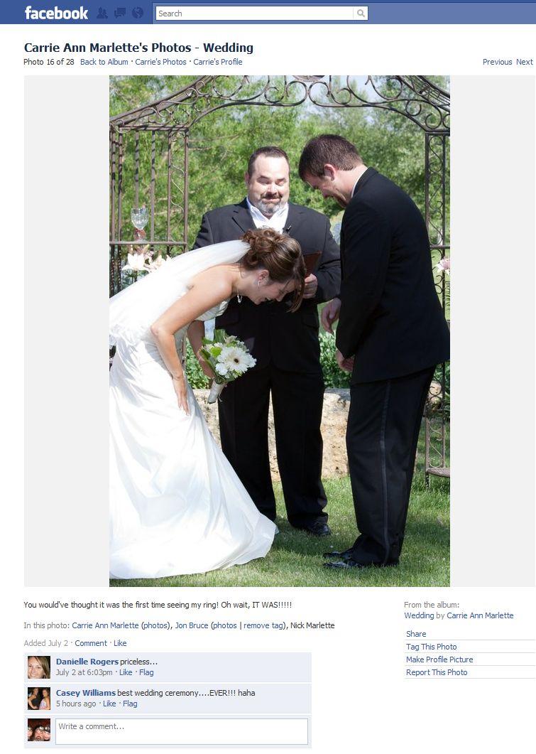 Best wedding ceremonyever jon bruce paddler dad for Best wedding photos ever